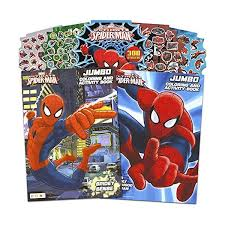 Spiderman make his own string. Marvel Spiderman Coloring And Activity Book Set With Stickers 2 Books Arts Crafts Drawing Painting Supplies