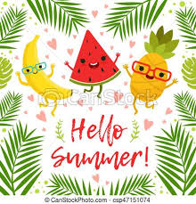 summer party clipart. Perfect Summer Funny Tropical Fruits On The Summer Party Vector Background Throughout Party Clipart