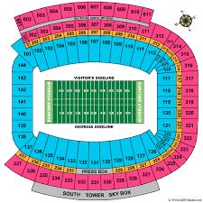 Sanford Stadium Seating Chart 2018 Uga Football Stadium Seating Chart Best Picture Of Chart