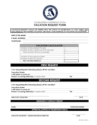 Sample Vacation Request Form 24 Vacation Request Form Examples PDF 14