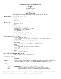 College Application Resume Examples Admissions Resume Cool College