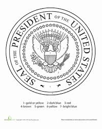 Small Picture Presidential Seal Coloring Page Worksheet Educationcom
