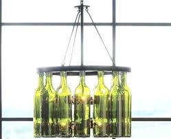 recycled glass chandelier blue diy pottery barn