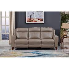 contemporary taupe leather power