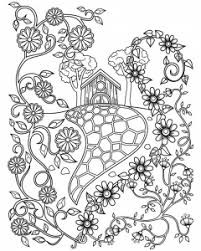 princess and the pea coloring page. coloring-page-fairy-tale-house-and-flowers princess and the pea coloring page