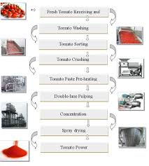 Tomato Sauce Production Flow Chart Tomato Powder Production Line Tomato Receiving Machine