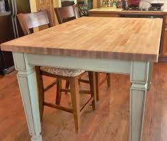 decorating round butcher block table island countertop