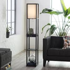 living room floor lamp. adesso parker 3133 shelf lamp with drawer - black floor lamps at hayneedle · for living roomliving room