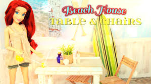 diy how to make doll beach house table chairs set handmade doll crafts you