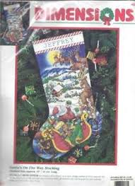 Cross Stitch Stocking Patterns Stunning Cross Stitch Christmas Stocking EBay