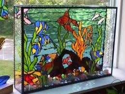 fish tank stained glass stained glass mosaics fish