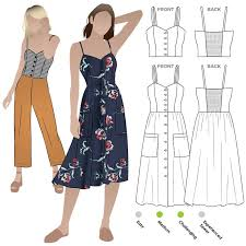 Dress Sewing Patterns Custom Ariana Woven Dress Style Arc