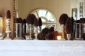 Pine Cone Candles This Is Not A Christmas Mantle Stonegable