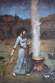 reion oil painting the magic circle 1886 by john william waterhouse 24x36 home decoration wall art no frame for in painting calligraphy