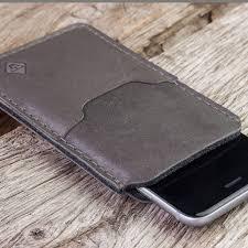 suitable iphone xs leather case phone sleeve precious elegant katastrophenschutz basalt gray