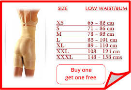 Slim N Lift Aire Size Chart Slim N Lift Body Shaper Slimming Garment Slimnlift India