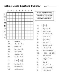Solving Equations Puzzle Worksheet - Timakuleshov | Math Stuff ...