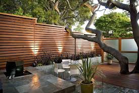 charming outdoor divider wall including garden patio privacy trends images