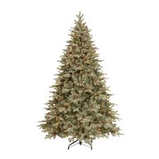 Christmas Tree Cone With Lights National Tree Company 7 5 Ft Frosted Arctic Spruce Artificial Christmas Tree With Clear Lights