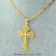 catholic cross necklace alloy pendant men jewelry crucifix view larger female