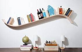 Curved floating shelf  5 cool design ideas