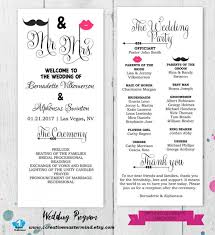 Fun Wedding Programs 031 Aylee Bits Fan Wedding Program Template Ideas Tri Fold