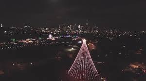 Zilker Park Christmas Lights Zilker Park Christmas Tree Aerial Drone View Dji Mavic Pro Austin Texas