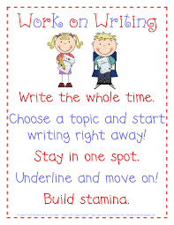 Daily 5 Anchor Charts 2nd Grade Work On Writing Anchor Chart Daily 5 Daily 5 Writing