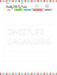 Excel Monthly Bill Tracker Bill Spreadsheet Organizer Bill Organizer Template Excel Bill