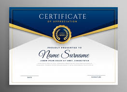 free recognition certificates certificate vectors photos and psd files free download