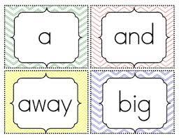 Sight Word Flash Cards Pre Primer 3rd Grade Freebie
