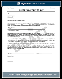 late rent notice form template