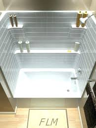 one piece bathtub and surround one piece bathtub enclosures outstanding shower surround w tub enclosure 1