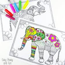 Small Picture Free Elephant Coloring Pages for Adults Easy Peasy and Fun