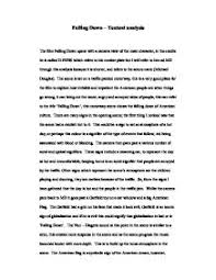 falling down textual analysis university media studies  page 1 zoom in