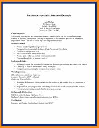 Resume Examples Insurance Therpgmovie