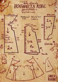 Hogwarts Robe Pattern