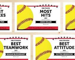 softball award certificate softball certificate etsy