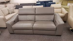 elixir leather 3 seater electric recliner sofa usb from furniture village