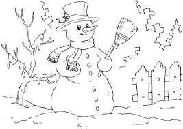 Small Picture Good Snowman Coloring Page 13 In Coloring For Kids With Snowman