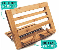 eco friendly bamboo table easel ipad book stand artist table easel for kids