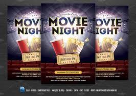 Movie Flyer Movie Night Flyer Flyer Templates Creative Market 3