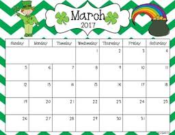 blank march calendar 2018 2017 and 2018 editable calendar pdf version by kirby tpt