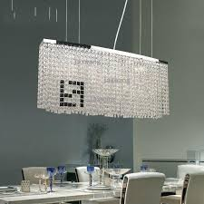 nordic dining room led crystal chandelier modern art kitchen table rectangular chandelier lighting youlaike round chandeliers pendant fixture industrial