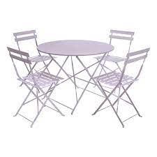 4 seater metal round garden dining set