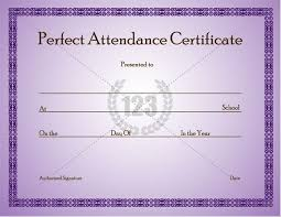 free perfect attendance certificate perfect attendance certificate template can given to students who
