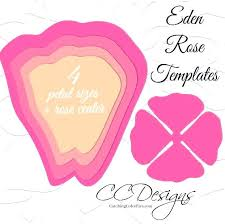 Paper Flower Template Free Rose Paper Flower Template Free Gemalog