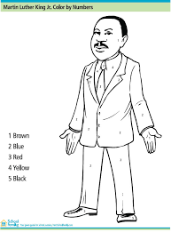 Small Picture Martin Luther King Jr Color By Number Printables for Kids free