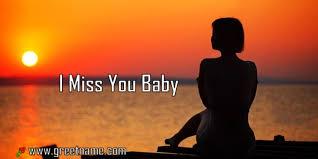 i miss you baby women waiting greet name