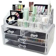 acrylic makeup organizer storage box case cosmetic jewelry 4 drawer cases holder makeup container bo rangement